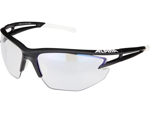 Alpina Eye-5 HR VLM+ black matt-white-black/blue mirror